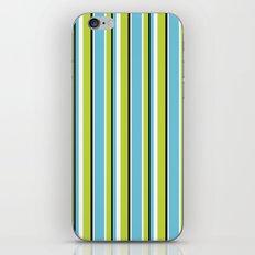 Fun Stripes blue green iPhone & iPod Skin
