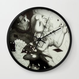 Pawn against the world Wall Clock