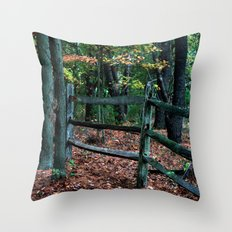 Forest Fence Throw Pillow