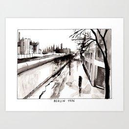 Berlin 1986 Art Print
