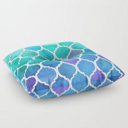 Emerald & Blue Marrakech Meander Floor Pillow