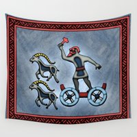 thor Wall Tapestries featuring Thor by Thor Ewing