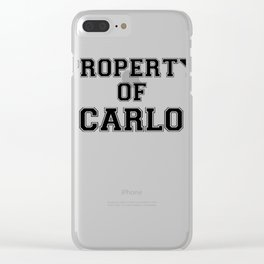 Property of CARLO Clear iPhone Case
