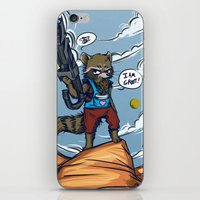 rocket raccoon iPhone & iPod Skins featuring Rocket Raccoon and Baby Groot  by BlacksSideshow