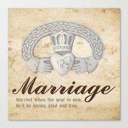 Marriage January Canvas Print