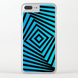 Squares twirling from the Center. Optical Illusion of Perspective bu Squares twirling Clear iPhone Case