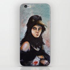 Raven girl iPhone & iPod Skin