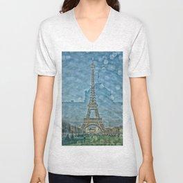 Tour Eiffel reflet Unisex V-Neck