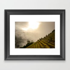 Machu Picchu terraces Framed Art Print
