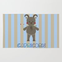capricorn Area & Throw Rugs featuring Capricorn by Esther Ilustra