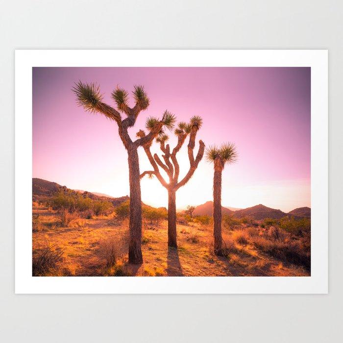 Three Sisters at Sunset- Joshua Tree Edition Kunstdrucke