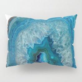 Blue agate, Marble, Faux Druse, Crystal, Quartz, Gem, Gemstone, Pillow Sham