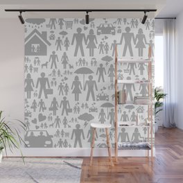 Family a background Wall Mural