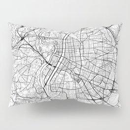 Lyon Map White Pillow Sham