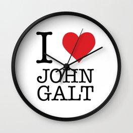 I Heart John Galt Wall Clock