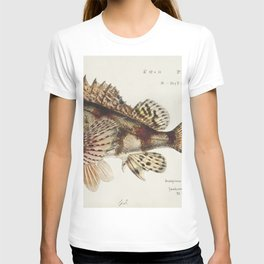 Antique Red Scorpion fish drawn by Fe Clarke (1849-1899) T-shirt