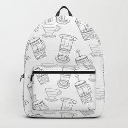 Coffee Brewing Pattern Backpack