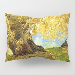 Sycamore in Autumn, Orange County Park Landscape by Edgar Alwin Payne Pillow Sham