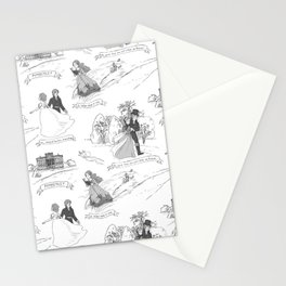 Pride and Prejudice Toile Stationery Cards