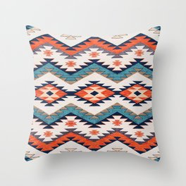 N70 - Bohemian Traditional Vintage Farmhouse Moroccan Style Artwork  Throw Pillow