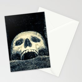 Old Human Skull In A Pagan Temple Stationery Cards