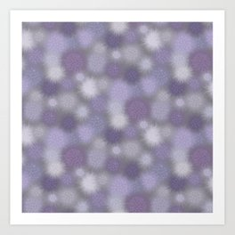 Poof Balls in Lavender and Gray Art Print