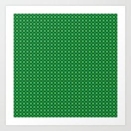 Happy St. Patrick's Day Pattern | Ireland Luck Art Print