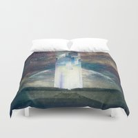 the fault Duvet Covers featuring It´s your fault by HappyMelvin