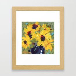 Sage and Sunflowers Framed Art Print