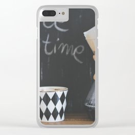 Coffee Time! Photo of coffee and mug Clear iPhone Case