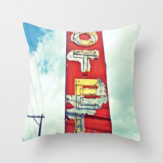 South Tacoma motel sign Throw Pillow