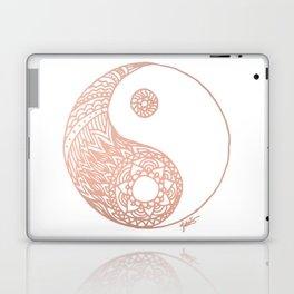 Rose Gold Yin Yang Laptop & iPad Skin