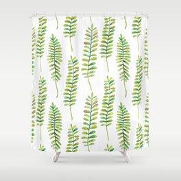 Watercolour Fern Pattern | Original Green Shower Curtain