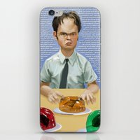 dwight schrute iPhone & iPod Skins featuring Dwight by Richtoon