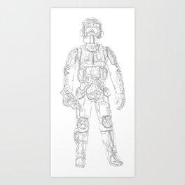 Biker Scout Art Print