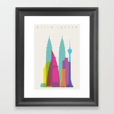 Shapes of Kuala Lumpur. Accurate to scale Framed Art Print
