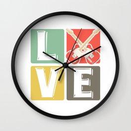 Guitar guitarist - Love Wall Clock
