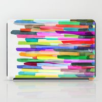 stripes iPad Cases featuring Colorful Stripes 4 by Mareike Böhmer