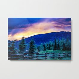 Purple Mountains Majesty - Colorado Sunrise Metal Print