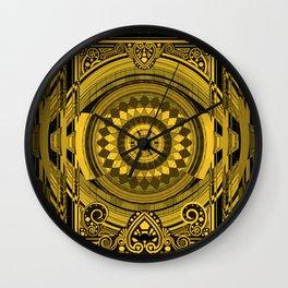 Yellow Sunflower Card Deck Cover Wall Clock