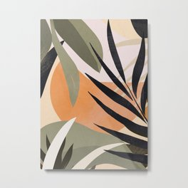 Abstract Art Tropical Leaves 2 Metal Print