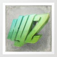 Anaglyph // XYZ Art Print