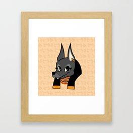 Little Anubis Framed Art Print
