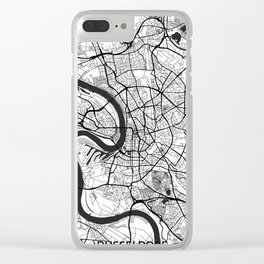 Dusseldorf Map Gray Clear iPhone Case