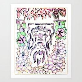 god flip fire Art Print