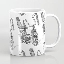'Slicks R 4 Chicks' - Girls Mod Stingray Muscle Bike Cartoon Retro Bicycle Coffee Mug