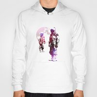 men Hoodies featuring Space Men by rubbishmonkey