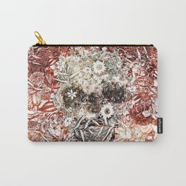 Floral Skull Red Carry-All Pouch