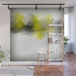 Gold and Gray Impressionist Landscape Wall Mural