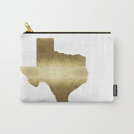texas gold foil print state map Carry-All Pouch